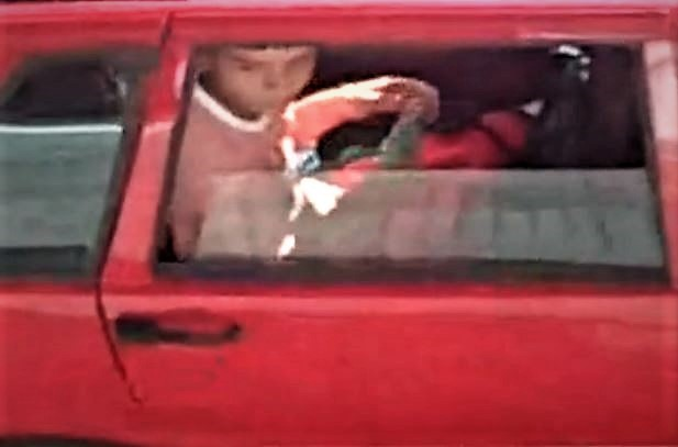 Spy TeenBoy Wank in Car