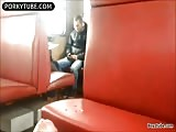 risky wank in train